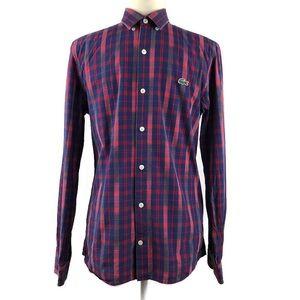 Lacoste Live Plaid Button Down Shirt